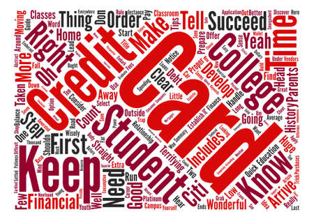 A Guide For Student Credit Cards text background word cloud concept