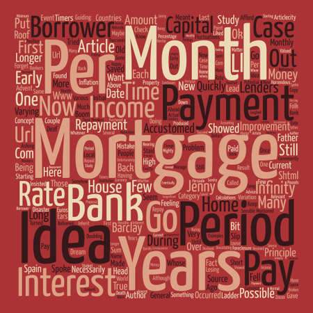 http: An Infinity Mortgage text background word cloud concept Illustration
