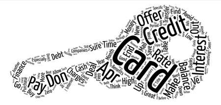 APR Credit Cards Make It Possible To Save Money Word Cloud Concept Text Background Illustration