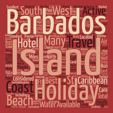 Barbados Holidays Word Cloud Concept Text Background