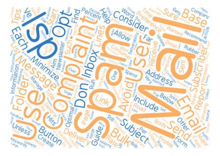 Een beginnersgids voor ISP Inbox Delivery tekst achtergrond woord cloud concept Stock Illustratie