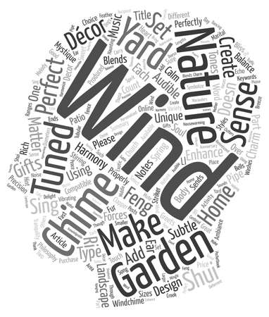 d cor: Make Wind Chimes A Part Of Your Garden Yard Decor text background wordcloud concept