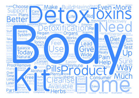 body detox home kit Word Cloud Concept Text Background