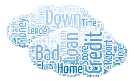 believes: Bad Credit No Money Down Loans Help Within Reach text background word cloud concept