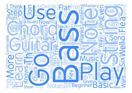 Be One With Your Bass Guitar Chords Text Background Word Cloud ...