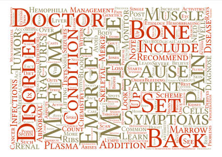 Back Pain and Multiple Myeloma Word Cloud Concept Text Background
