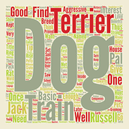 jack pack: A Dog in One Pack Jack Russell Terrier text background word cloud concept