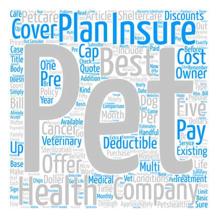 A Comparison of Five Pet Health Insurance Plans text background word cloud concept