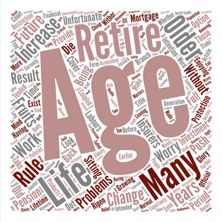 A Stake In The Future For Older People text background word cloud concept Stock Illustratie
