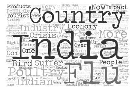 http: Bird Flu And Its Possible Impact In Indian Economy text background word cloud concept Illustration