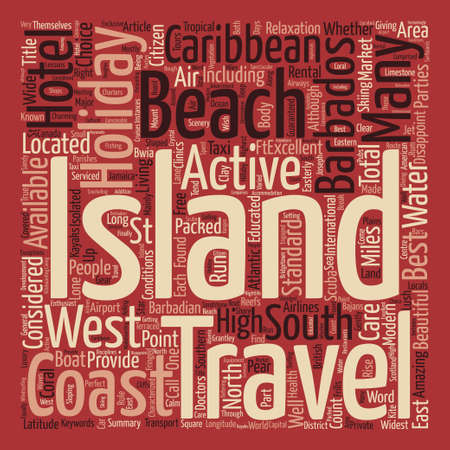Barbados Holidays text background word cloud concept