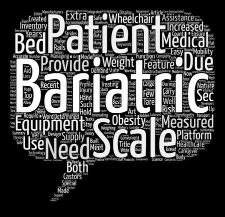 significantly: Bariatric Scales text background word cloud concept Illustration