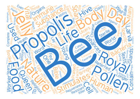 praised: Bee Supplements For Your Health text background word cloud concept Illustration