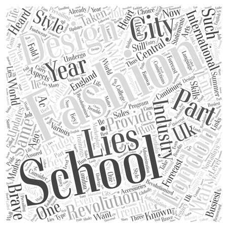 fashion design: london fashion design schools Word Cloud Concept