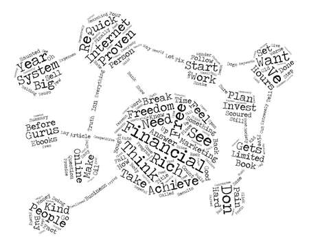 financially: Are You Where You Want To Be Financially text background word cloud concept Illustration
