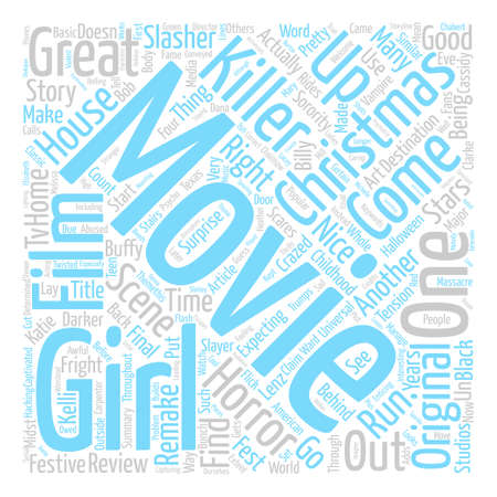 Black Christmas movie review text background word cloud concept 向量圖像