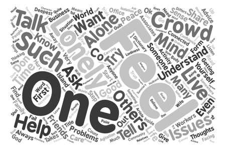 この群集本文背景単語クラウドのコンセプトで孤独であります。