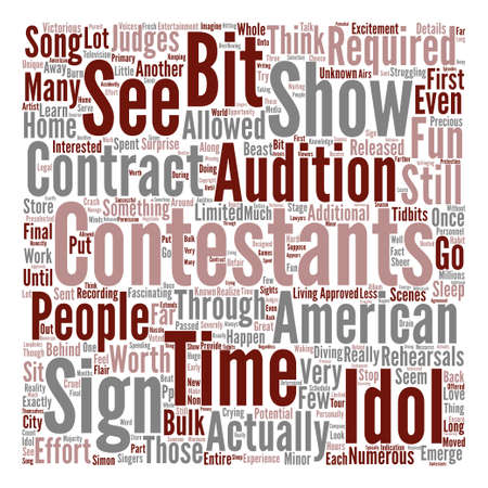 Behind the Scenes of American Idol text background word cloud concept
