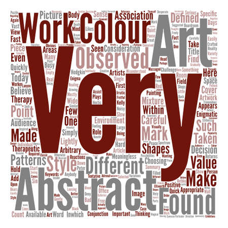 Abstract Art As Therapy text background word cloud concept