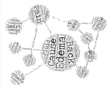 edema: Acute Edema and Back Pain text background word cloud concept