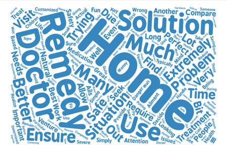 incorrect: Are Home Remedies Better than a Doctor text background word cloud concept