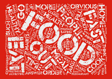 An Order Of Healthy Food Please text background word cloud concept