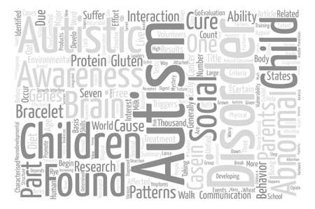 characterised: Autism The Mystery text background word cloud concept