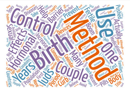 multiple birth: A Rundown On The Birth Control Methods text background word cloud concept