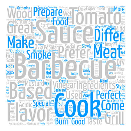 Barbecue Sauce For A Perfect Barbeque Word Cloud Concept Text Background