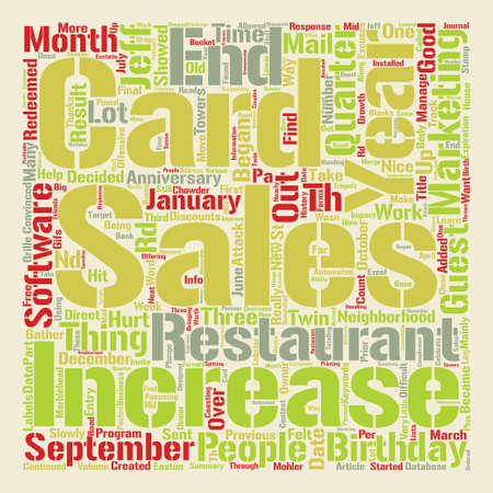 A Increase in Sales After text background word cloud concept Illustration