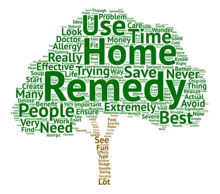 Best Home Remedies text background word cloud concept
