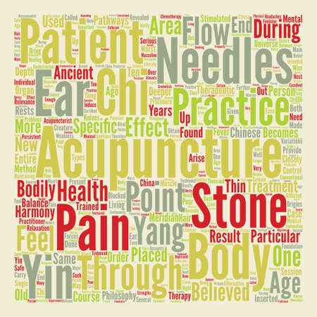 chi: Acupuncture Closely Revealed Word Cloud Concept Text Background