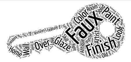 A Sampler of Faux Finish Techniques text background word cloud concept Ilustrace