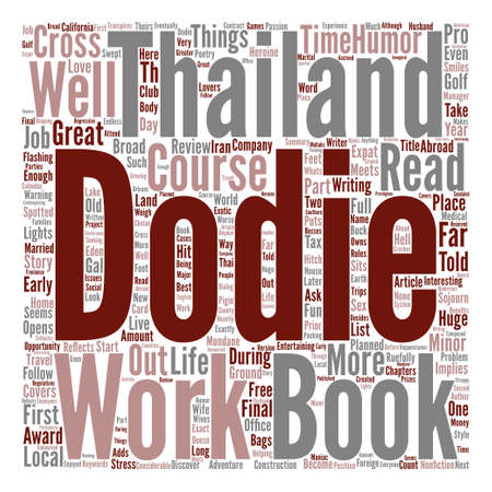 Book Review A Broad Abroad In Thailand By Dodie Cross Word Cloud Concept Text Background