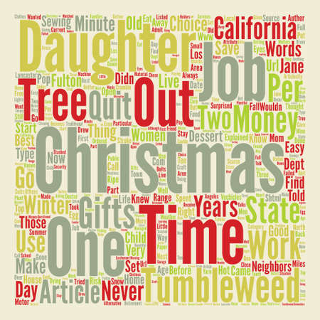 A Tumbleweed Christmas text background word cloud concept Ilustração