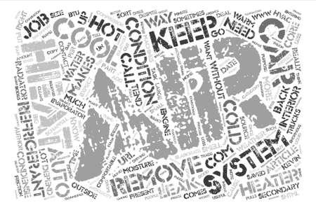 depend: Auto HVAC text background word cloud concept