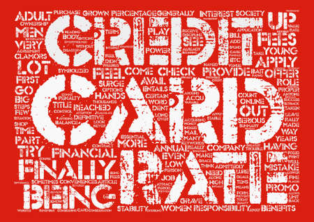 conveniences: Apply For A Credit Card The Proper Way Word Cloud Concept Text Background