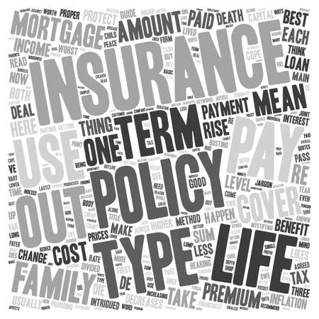Life Insurance When Only The Best Will Do text background wordcloud concept