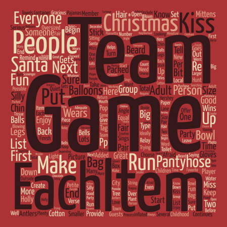 let s: Adult christmas games text background word cloud concept