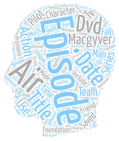 immediately: Macgyver DVD Review text background wordcloud concept