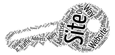 A Few Simple Ways To Promote A Website text background word cloud concept