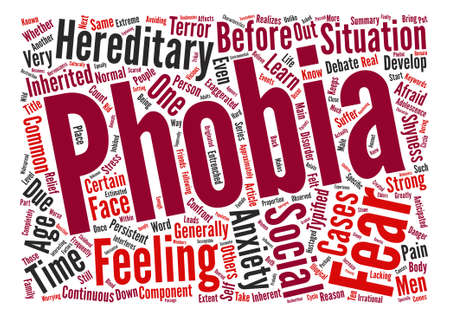 Are Phobias Inherent or Inherited text background word cloud concept Illustration