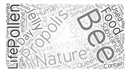 praised: Bee Supplements For Your Health Word Cloud Concept Text Background