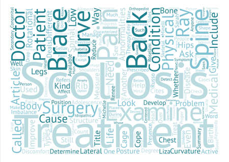 A Life With Scoliosis text background word cloud concept