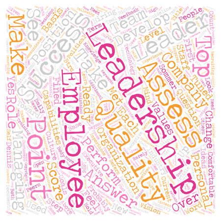 Qualities To Look For In A Leader text background wordcloud concept