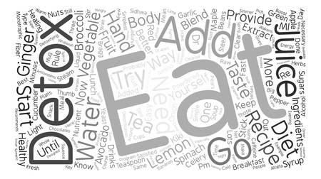 body detox recipe text background word cloud concept Illustration