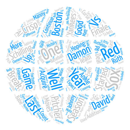 finally: Boston Red Sox Preview Word Cloud Concept Text Background