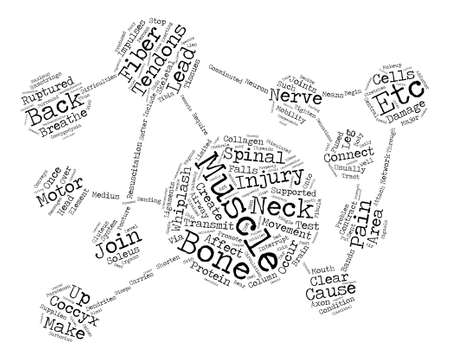 Back Pain and Tendons text background word cloud concept Vectores