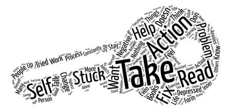 tried: Are You Stuck In Your Life text background word cloud concept