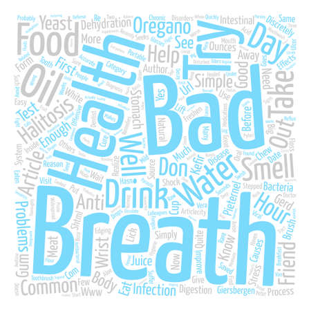 Bad Breath Halitosis text background word cloud concept
